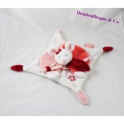 Doudou plat souris DOUDOU ET COMPAGNIE Clémentine rouge rose DC2614