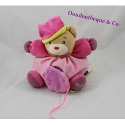 Doudou ours KALOO Pop rose violet coeur miroir P'tit ours