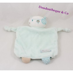 Doudou plat chat SILVER CROSS pirate bleu vert marionnette