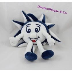 Peluche publicitaire soleil I LOVE MSC CROCIERE bleu blanc 32 cm