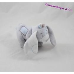 Peluche chien NOUKIE'S Arthur et Merlin bleu et gris 15 cm