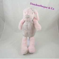 Plush dog PRIMARK pink dress grey brilliant 34 cm