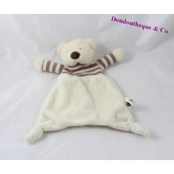 Bear flat Doudou JELLYCAT beige Brown striped 24 cm