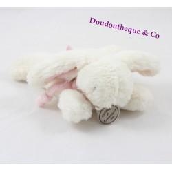 Doudou Lapin Bonbon DOUDOU ET COMPAGNIE 15 cm blanc et rose