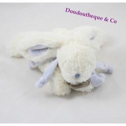 Lapin Bonbon DOUDOU et COMPAGNIE couleur blanc et taupe 27 cm