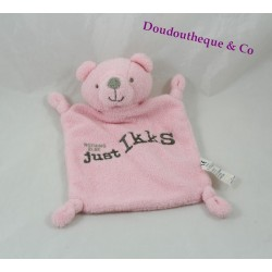 Doudou plat ours IKKS rose Nothing Else Just IKKS 20 cm