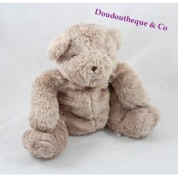 Doudou ours DPAM beige assis Du pareil au même 22 cm