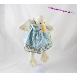 Doudou Jeanne the MOULIN ROTY Grand family goose duck duck dress blue 30 cm