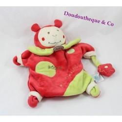 Doudou marionnette coccinelle BABY NAT' Cocci adore les fleurs
