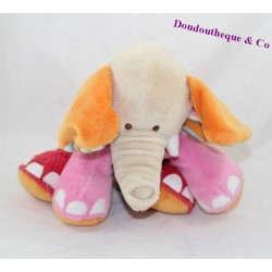 Peluche éléphant HAPPY HORSE rose assis 22 cm