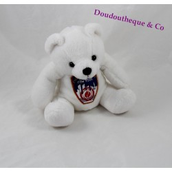 Peluche ours blanc Fire Department City of New York badge 15 cm