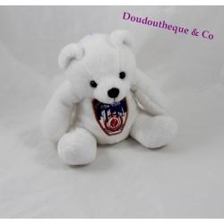 Teddy bear White Fire Department City of New York badge 15 cm