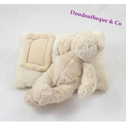 Doudou musical ours MOULIN ROTY collection Linvosges beige ours dormeur