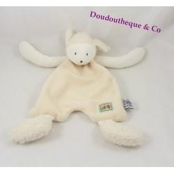 Doudou plat mouton MOULIN ROTY beige et blanc 32 cm
