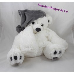 Teddy bear ETAM range pyjama Teddy bear bottle cap white 40 cm