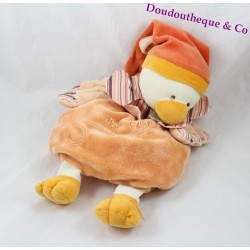 Doudou range Banjo duck BLANKIE and company orange pajamas