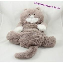 Plush cat ETAM range Pajamas doudou bouillotte 39 cm grey