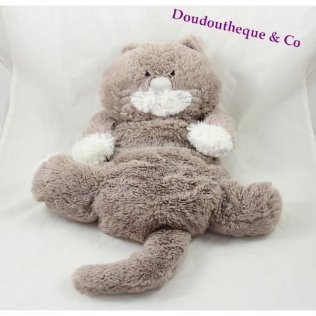 Plush Cat Etam Range Pajamas Doudou Bouillotte 39 Cm Grey Sos Bla