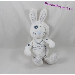 Doudou lapin TAPE A L'OEIL Lover doudou is back blanc 20 cm
