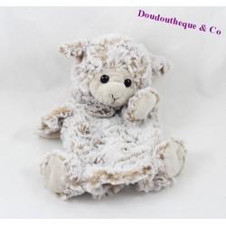 Doudou marionnette mouton CREATIONS DANI beige 24 cm