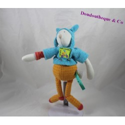 Plush Pinpin bicycle MOULIN ROTY blue orange 24 cm