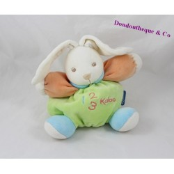 Doudou rabbit KALOO 123 green ball orange 18 cm