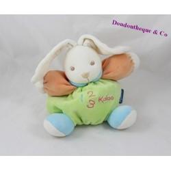Doudou rabbit KALOO 123 green ball orange 18 cm