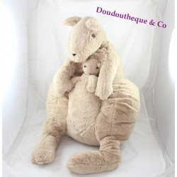 Grande peluche Kangourou IKEA maman kangourou et son bébé 60 cm