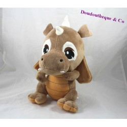 Plush dragon ZEEMAN brown white 27 cm