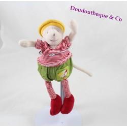Doudou hochet souris MOULIN ROTY Balthazar et Valentine grelot 20 cm