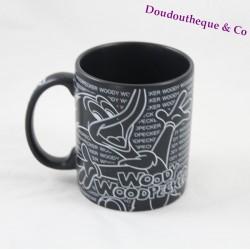 Mug noir mat Woody Woodpecker PORTAVENTURA Walter Lantz 10 cm