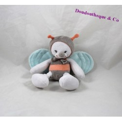 Don bee NATTOU Bubbles gray Bell rattle orange 16 cm