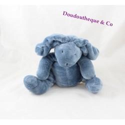 Doudou lapin DPAM bleu assis Du pareil au même 22 cm
