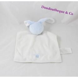Doudou rabbit flat blue and white TIMBERLAND C.W.F 23 cm