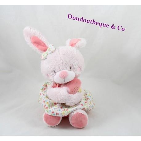 Plush musical rabbit TEX pink bird floral dress crossroads 32 cm