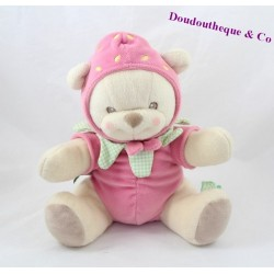 Teddy bear NATURE BEARRIES Fisher Price pink green Strawberry 26 cm