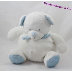 Teddy bear ball TEX scarf blue white BABY peas 24 cm