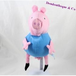 Peluche Peppa Pig PMS cochon Georges habit bleu 25 cm