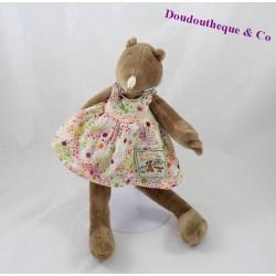 Doudou Apolline Mole MOULIN ROTY Grand family dress polka dot 30 cm