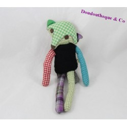Doudou flat black-green Wolf 28 cm Sly Fox