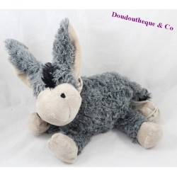 Plush donkey LOUISE gray hairs MANSEN 23 cm long
