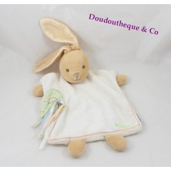 Doudou dish 25 cm beige KALOO 1 2 3 green ribbons heart rabbit