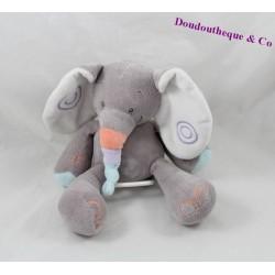 Doudou elephant musical nattou bubbles