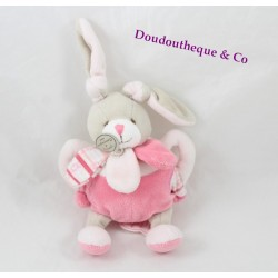 Doudou rattle Célestine Bunny BLANKIE and company Bell pink 20 cm