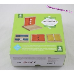 Box closures MONTESSORI by Nature & discoveries wood and fabrics
