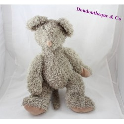 Plush mouse MOULIN ROTY Papa Mouse gray and beige coat Zephyr 42 cm