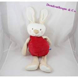 Range pyjama lapin SUCRE D'ORGE rouge spirale 44 cm