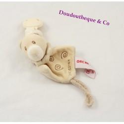 Home bear pacifier ORCHESTRA beige spiral clip 23 cm