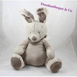 Plush rabbit SIMBA TOYS BENELUX taupe Brown bandanna sitting 35 cm