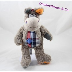 Dog horse donkey LANDBOUWKREDIET tissue patches tiles blue 28 cm